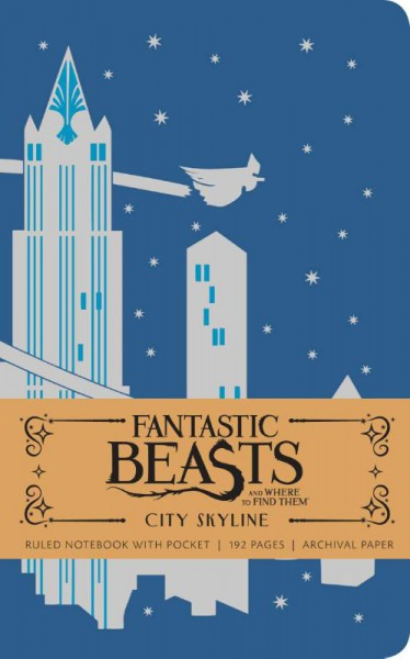 Fantastic Beasts City Skyline Hardcover Ruled Notebook
