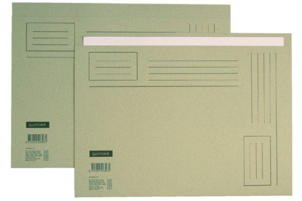 Vouwmap Quantore A4 ongelijke zijde 230gr grijs