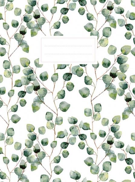 Leaves schrift (ruiten) / Cahier feuilles (quadrillé)