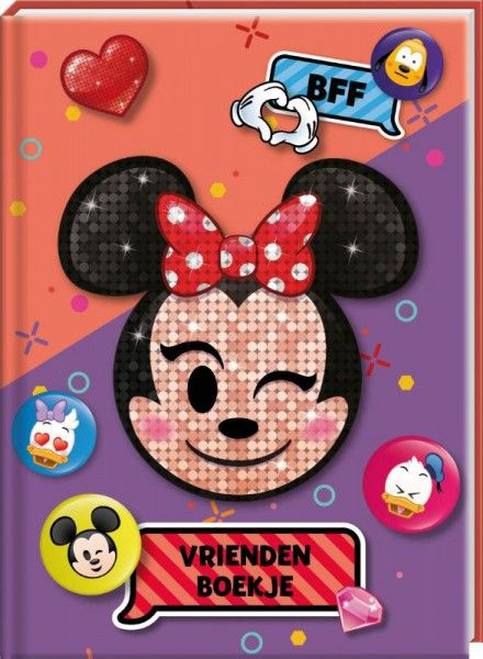 VRIENDENBOEK DISNEY EMOJI MINNIE SET VAN 3 - FSC MIX CREDIT