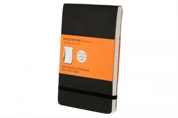 Moleskine Soft Cover Pocket Ruled Reporter Notebook