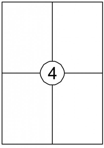 Etiket Quantore 105x148mm 400stuks